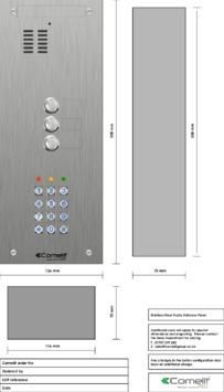 Comelit - VK4103-05 engraving template