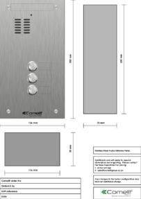 Comelit - VK4103 engraving template