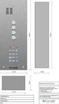 Comelit - VK4104-05 engraving template