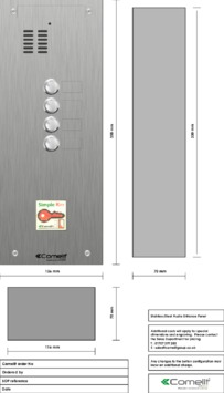 Comelit - VK4104-08 engraving template
