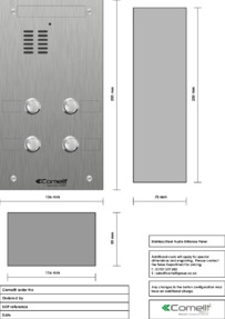 Comelit - VK4104 engraving template