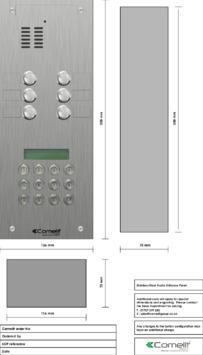 Comelit - VK4106-0C engraving template