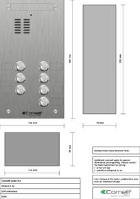 Comelit - VK4107 engraving template