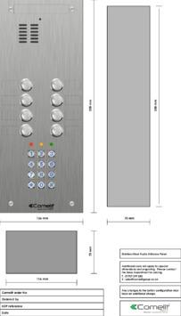 Comelit - VK4108-05 engraving template