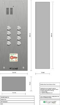 Comelit - VK4108-08 engraving template
