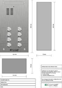 Comelit - VK4108 engraving template