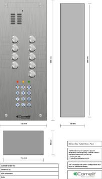 Comelit - VK4109-05 engraving template
