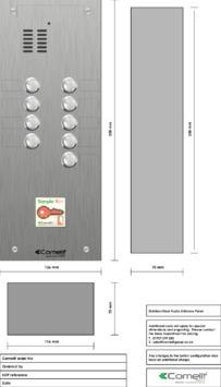 Comelit - VK4109-08 engraving template