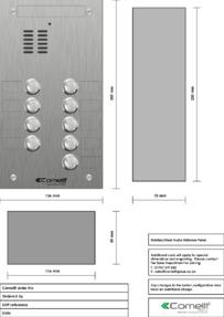 Comelit - VK4109 engraving template