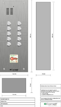 Comelit - VK4110-08 engraving template