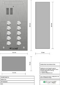 Comelit - VK4110 engraving template