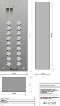 Comelit - VK4118 engraving template