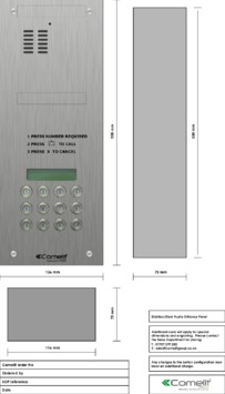 Comelit - VK4199 engraving template
