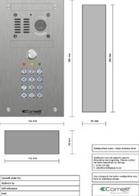 Comelit - VK4501-05 engraving template