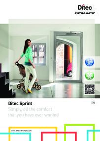 Ditec SPRINT door operator brochure