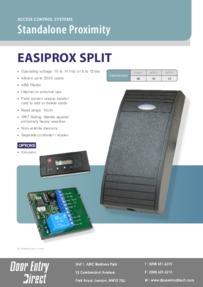 EASY01 Easiprox Split data sheet
