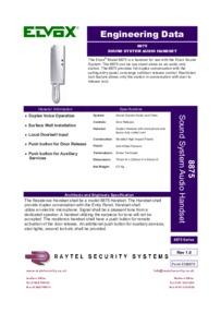 Elvox 8875 brochure