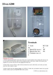 Elvox6200 wiring diagram