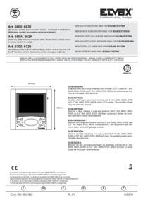 Elvox 6720 wiring diagram