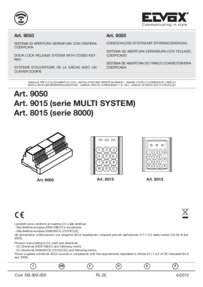 Elvox 8015 Installation and diagrams