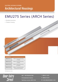 EMU275 Series - ARCH1/2/2-2/2-2V Architectural Housings Brochure