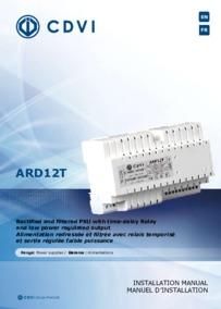 CDVI instruction manual for Art.ARD12T