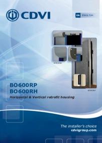 CDVI instruction manual for Art.BO600RP