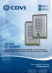 CDVI Instructions for KCIEN-SBP Keypad