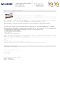 Fermax 2436 data sheet