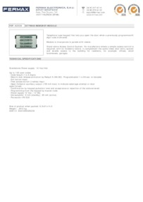 Fermax 2520 data sheet