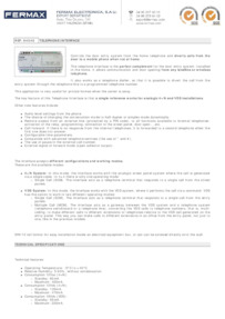 Fermax 4545 data sheet