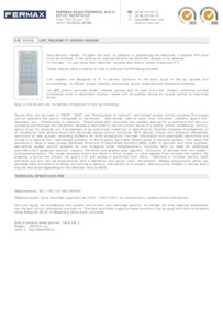 Fermax 4550 data sheet