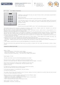 Fermax 6994 data sheet