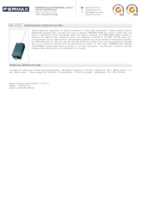 Fermax 7952 data sheet