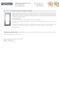 Fermax 9199 data sheet