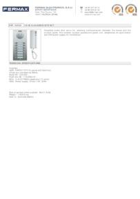 Fermax 4869 data sheet