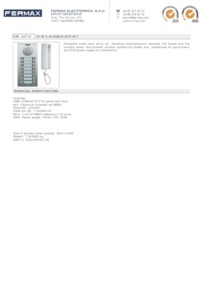 Fermax 4871 data sheet