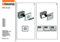 Bticino installation manual for module front cover