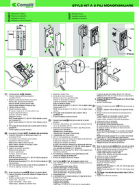 Comelit 8271 (5 wire) 1 user audio kit - Short Technical Manual