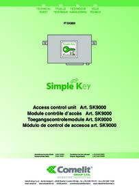 Comelit Technical Manual - SK9000 Simplekey reader