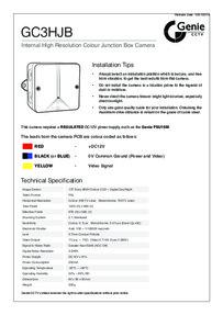 GC3HJB Camera Installation Notes