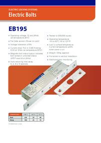 EB195 Electric bolt brochure