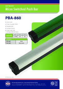 Gianni PBA-860 Push bar data sheet