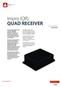 BPT Impro QR Quad Receiver Brochure