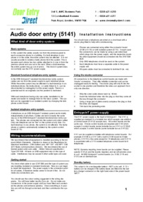 Instructions 5141       Power Supply