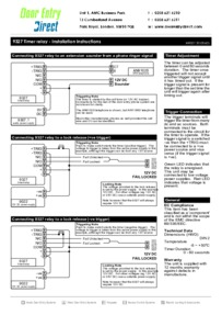 Instructions 9327       timer relay