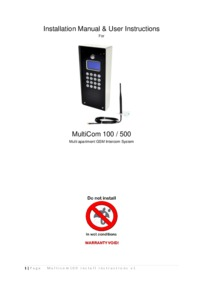 MultiCOM Series Instruction Manual