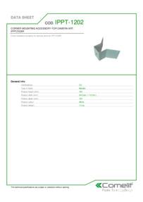 Comelit IPPT-1202 data sheet