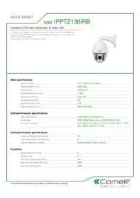 Comelit IPPTZ130IRB data sheet
