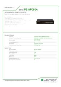 Comelit IPSWP080A data sheet